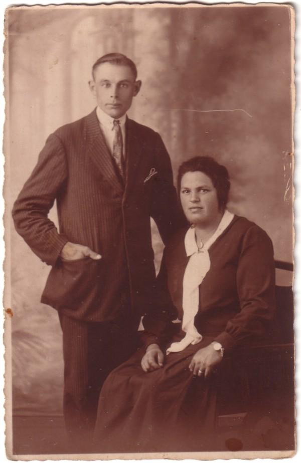 Foto  Anthonie Veldhuizen en Hendrika Dorresteijn