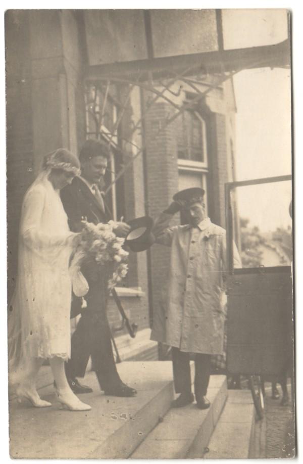 Gerardus Johannes Thimotheus Beuken en Louisa Agnes Keijzer, trouwfoto