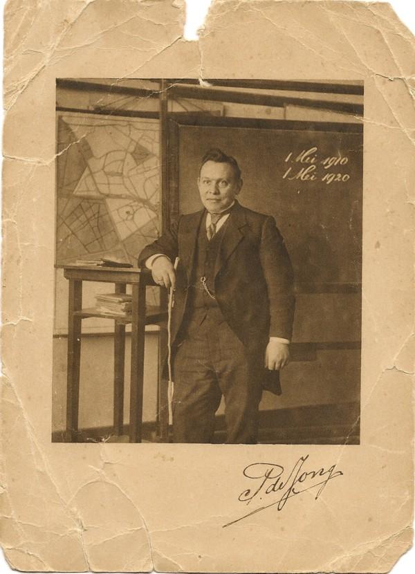 Pieter de Jong, hoofdonderwijzer Hervormde School