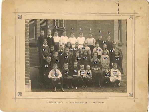 Foto  Hervormde School aan de Spoorstraat