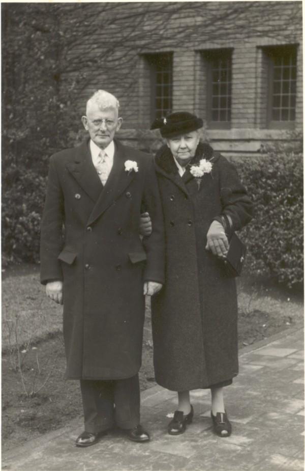 Foto  Barend Adrianus Derksen en Hendrika Christina Pineda