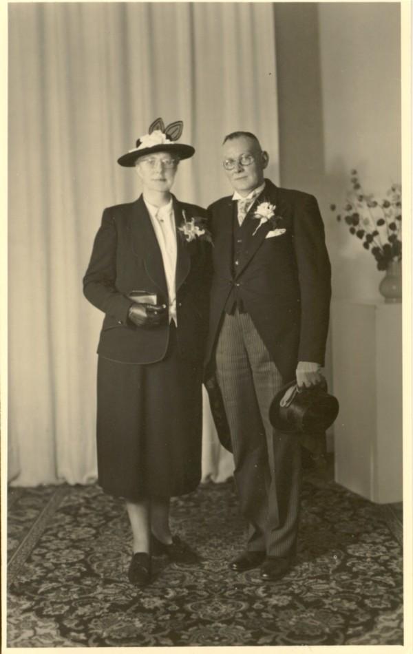 Douwina de Vries en Jacob Kragt trouwfoto