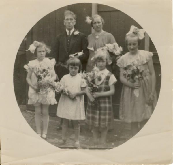 Johannes Brandt en Cornelia Oostrom trouwfoto