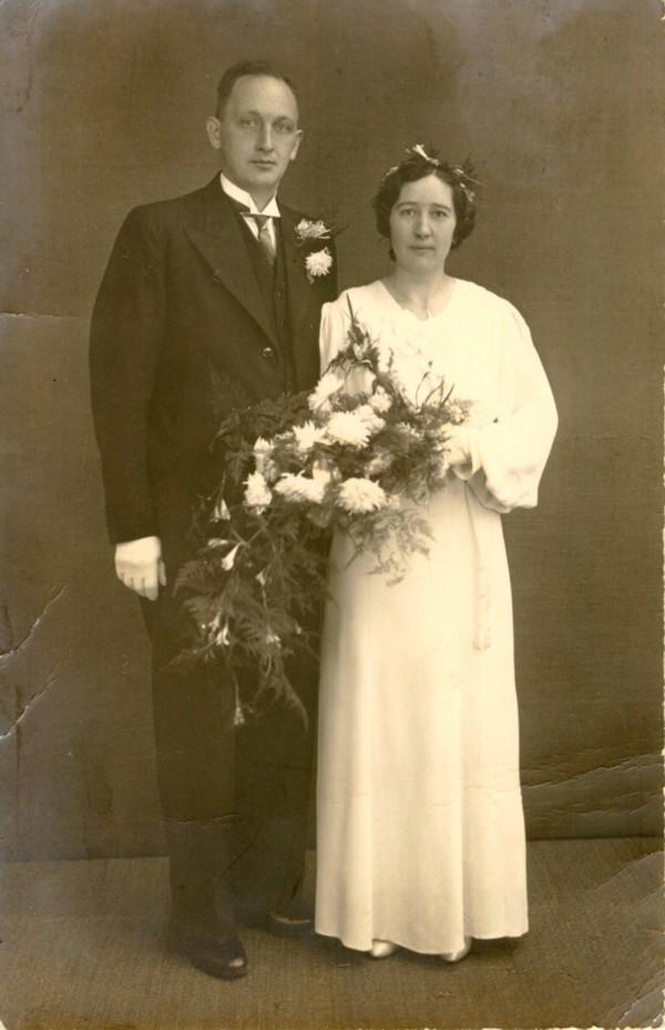 Gijsbert Mulder en Albertha Maria Brandt trouwfoto