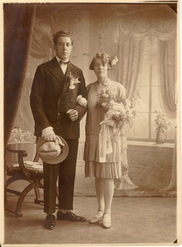 Martinus Herman Derksen en Beertje van 't Veld trouwfoto