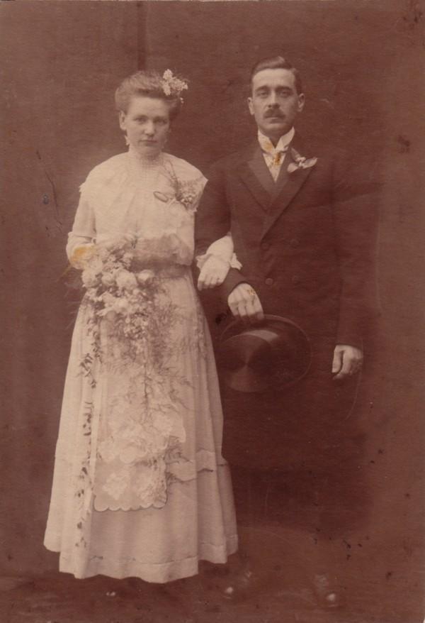 Foto  Maria Hendrika Hornsveld en Carel Gustaaf Werner trouwfoto