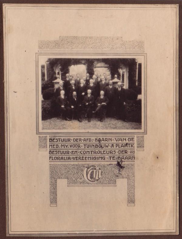 Foto  Document t.g.v. de 70ste verjaardag van Caspar Anton Woltman Elpers