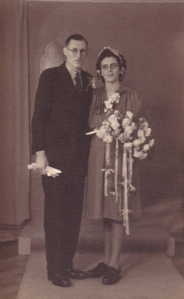 Krijn van den Hamer en Greet Koenen trouwfoto
