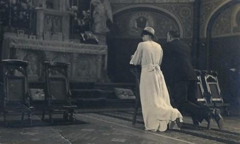 Johanna Elisabeth Francisca Scheel en Marie Leonardus Jozef de Block trouwfoto