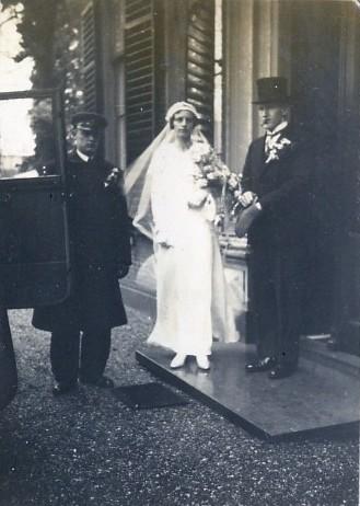 Elisabeth Francisca Johanna Scheel en Johannes van den Brakel trouwfoto