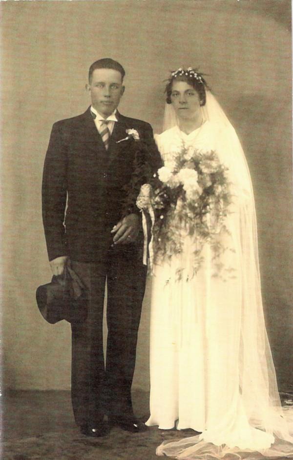 Lambertus Prinsen en Hendrika Dijs trouwfoto