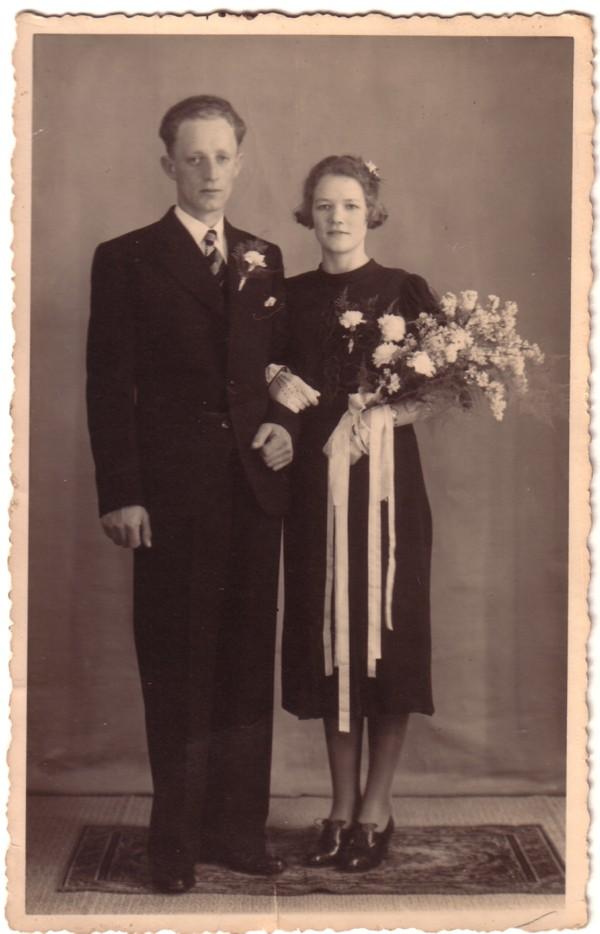 Willem Breunesse en Gijsbertha Ravenhorst, trouwfoto