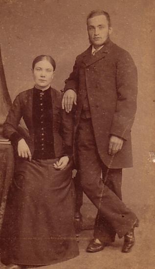 Hendrika van der Woord en Hendrik Hornsveld trouwfoto