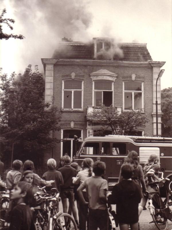 Foto  Brand in de Dalweg Baarn