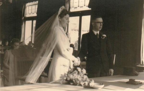 Anna Rodenburg en Hendrik Jan de Zoete trouwfoto