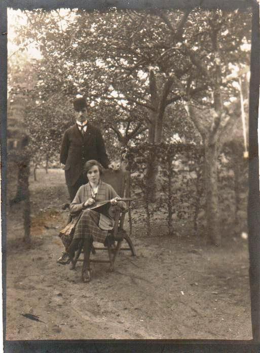 Gerrit de Zoete met dochter Aartje de Zoete