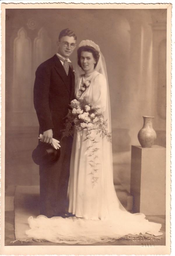 Johannes Lambertus Antonius Timmers en Everarda Maria van Paridon trouwfoto