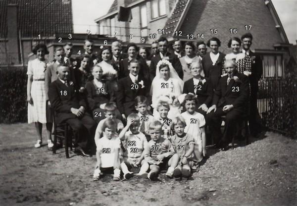 Herman van de Vlekkert en Hendrika Richarda Hilhorst trouwfoto