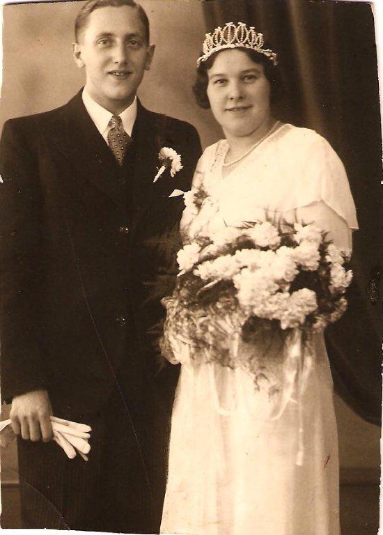 Dirk Broers en Geurtje de Zoete trouwfoto