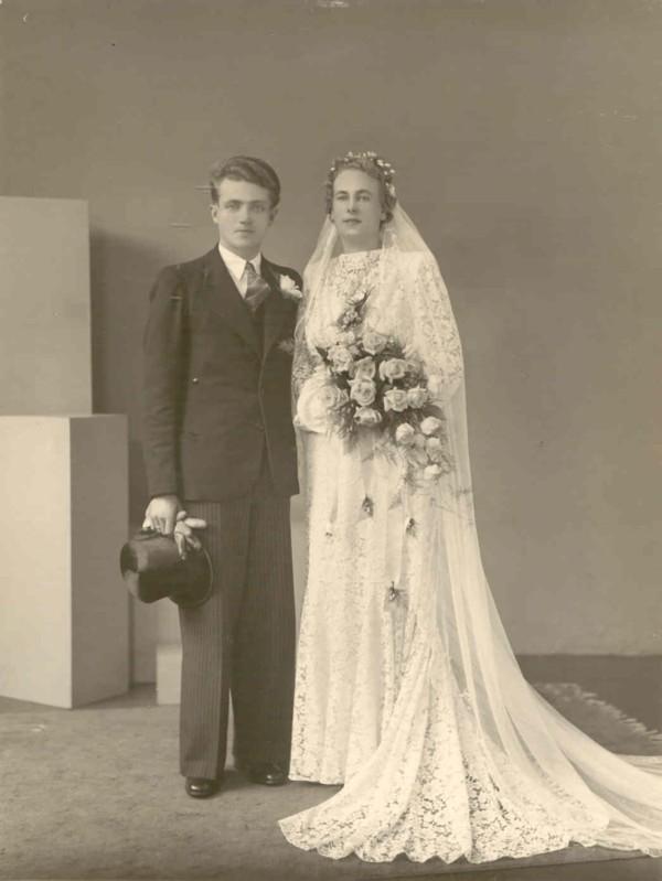 Abraham Johannes van Dijk en Maria Johanna Koops trouwfoto