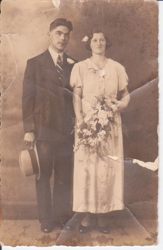 Christiaan Theodorus Mooij en Gertrud Gesgarz trouwfoto