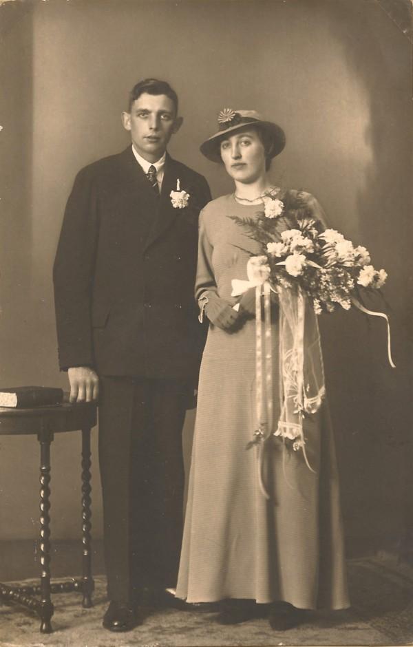 Gerrit Wegerif en Catharina van der Pol, trouwfoto