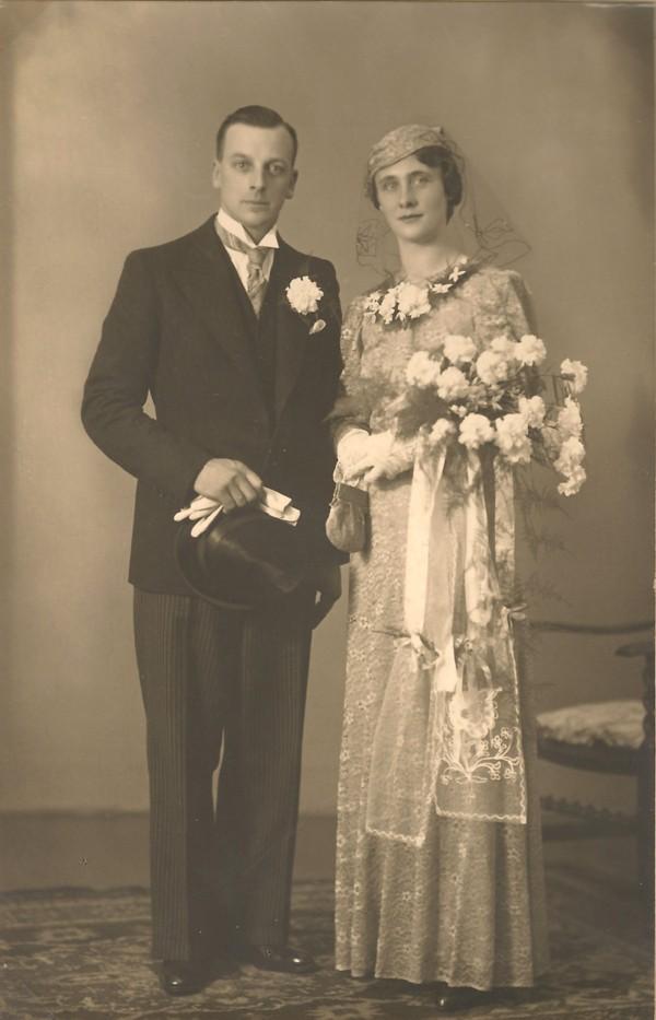 Hessel de Zoeten en Hendrikje Pater, trouwfoto