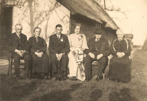 Gerrit Wegerif en Catharina van der Pol met hun ouders