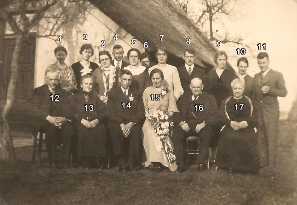 Gerrit Wegerif en Catharina van der Pol familieportret bij huwelijk