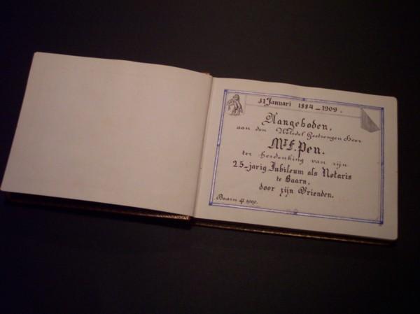 Album aangeboden aan Franciscus Pen, notaris te Baarn