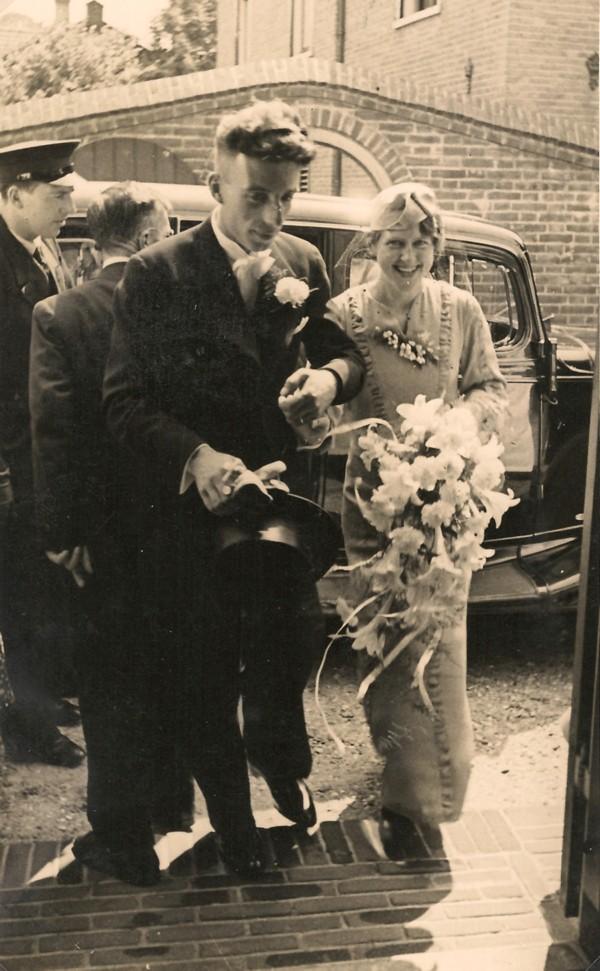 Jacob de Ruiter en Cornelia Roothart, trouwfoto