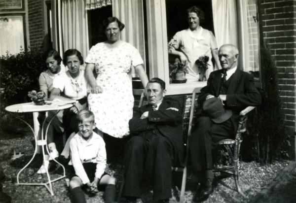 Familie Boudestein op bezoek bij familie Van Zijst