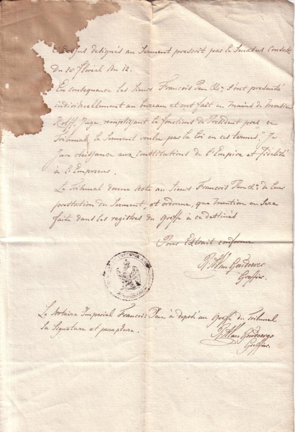 Uittreksel aanstelling Frans Pen als Notaris te Baarn deel 3