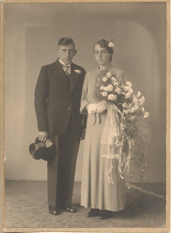 Evert Pater en Janna van der Pol trouwfoto