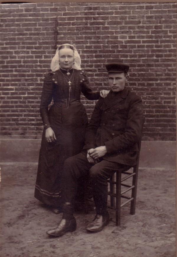 Onbekende dame en heer