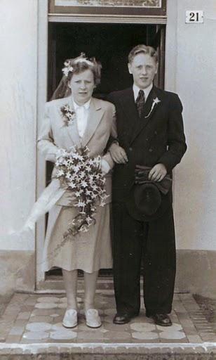 Aartje Mol en Theus van de Kamp trouwfoto