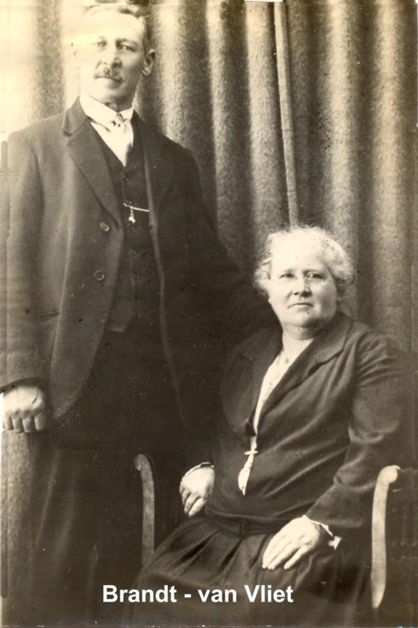 Hendrik Brandt en Metje Catharina Margaretha van Vliet