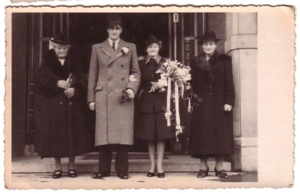 Margaretha van de Kuilen, Jan Broerze, Jean Lankhorst en Teuntje Grootveld