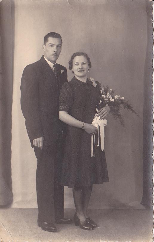 Arie Twisker en Jeanne Kleijn, trouwfoto