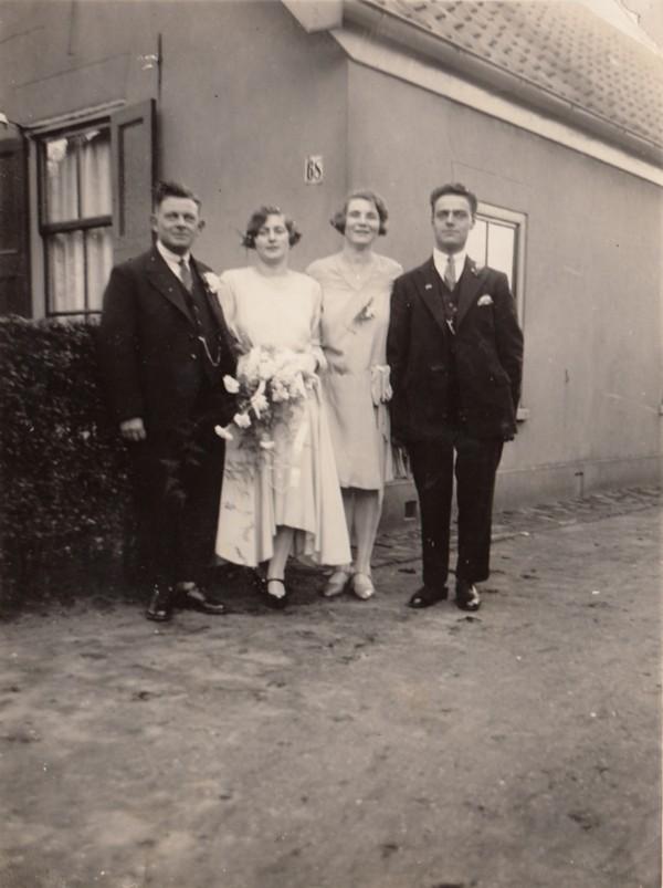 Willem Stroo, Tijmetje Limper  en  Everdina Ravenhorst,  Adrianus Pieter Jacobus Rademaker