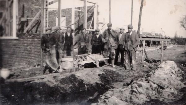 Bouwvakkers in Baarn