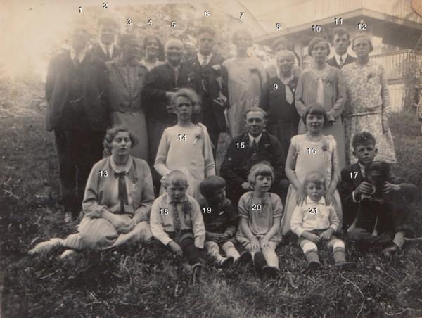 Foto  Familie Teunis Ravenhorst en Everdina Limper