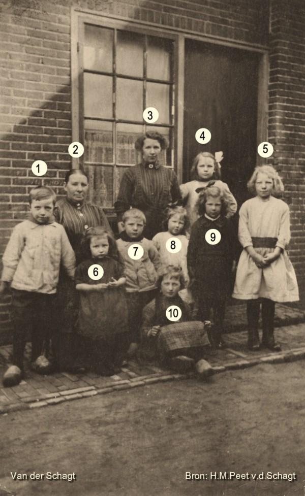 Heintje Westbroek met kinderen