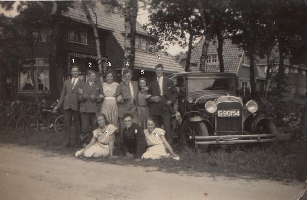Foto  Groepsfoto met familie Ravenhorst