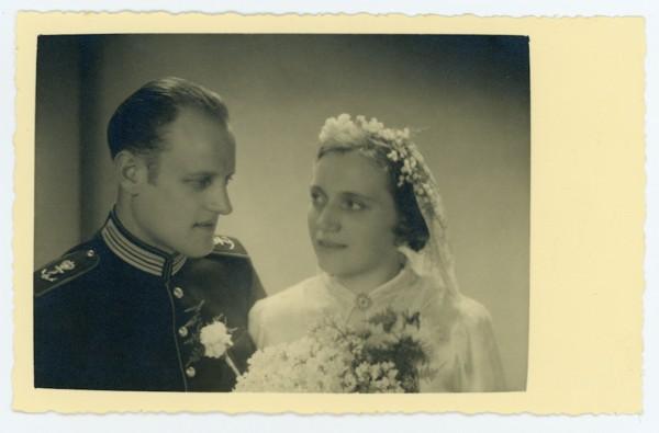 Johan Kappers en Clasina Mol trouwfoto
