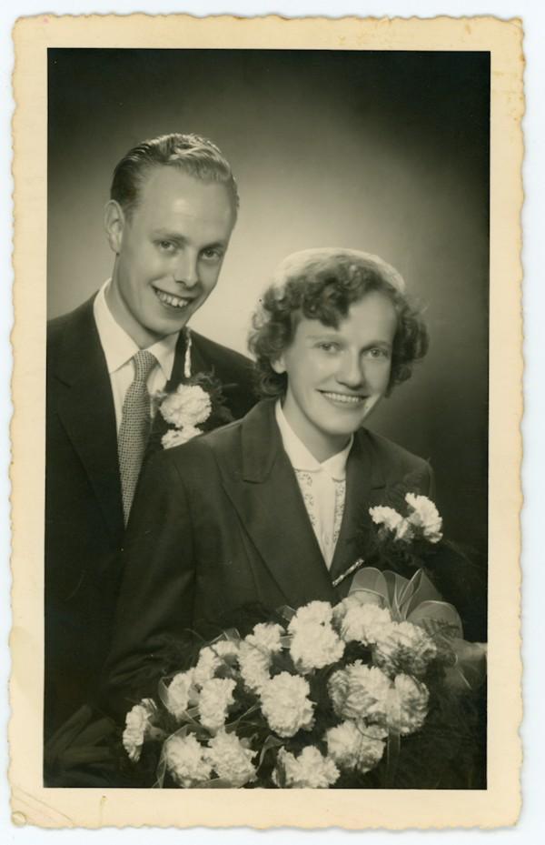 Cornelis Daniël Dieleman en Hendrikje Mol trouwfoto.