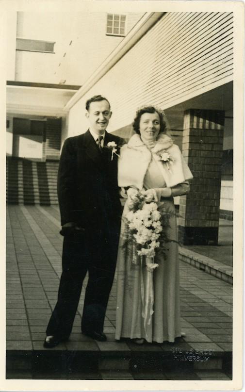 Rijk Hartog en Jannetje Mol trouwfoto