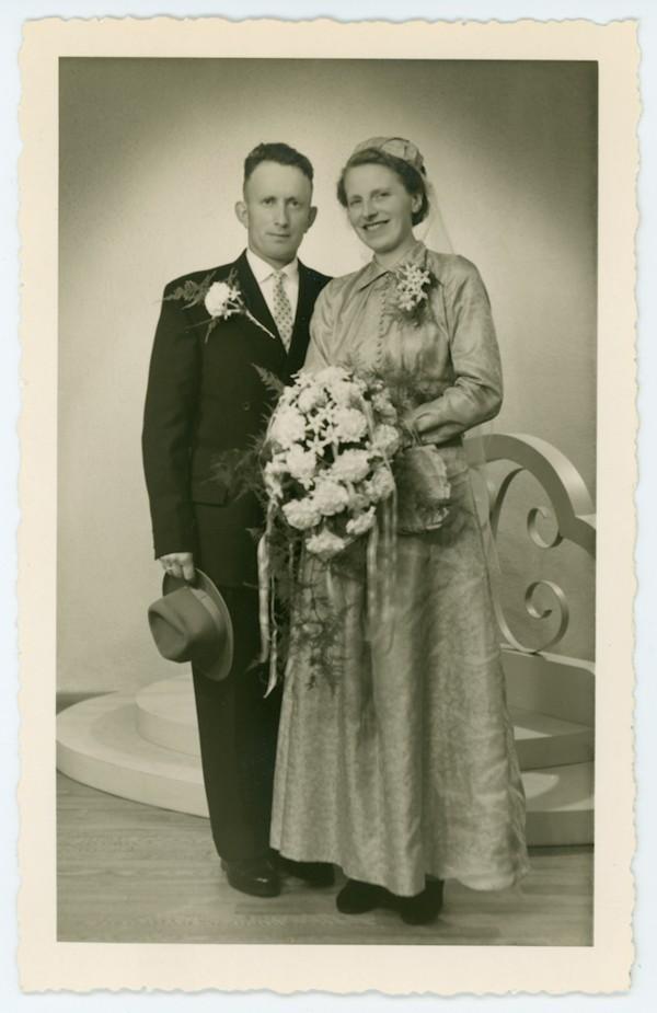 Willy Mol en Truus Starrenburg trouwfoto