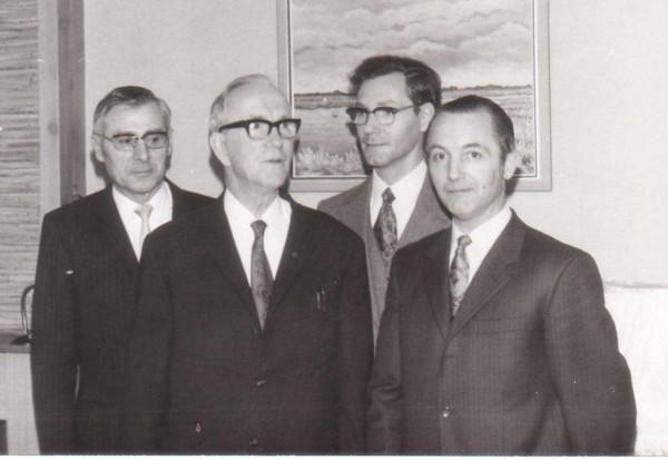 Arie van Haeften, Louis Ravenhorst en zijn zonen Johan Hendrik en Matthijs