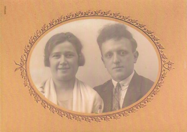Ernestine Grzenia en Cornelis Natter trouwfoto